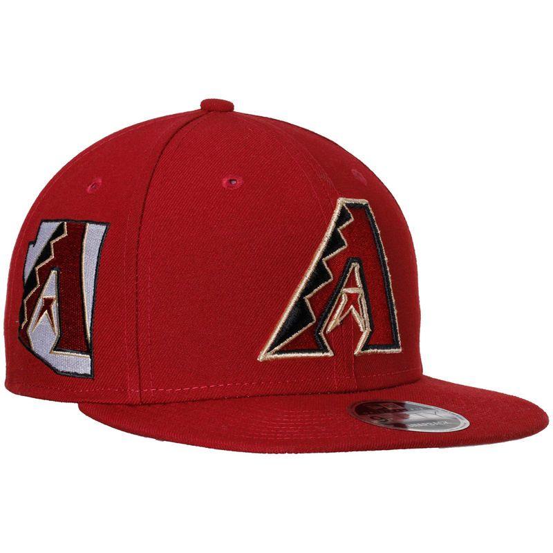 Arizona Diamondbacks New Era State Clip Snapback 9FIFTY Hat - Red ... 7e880f76329