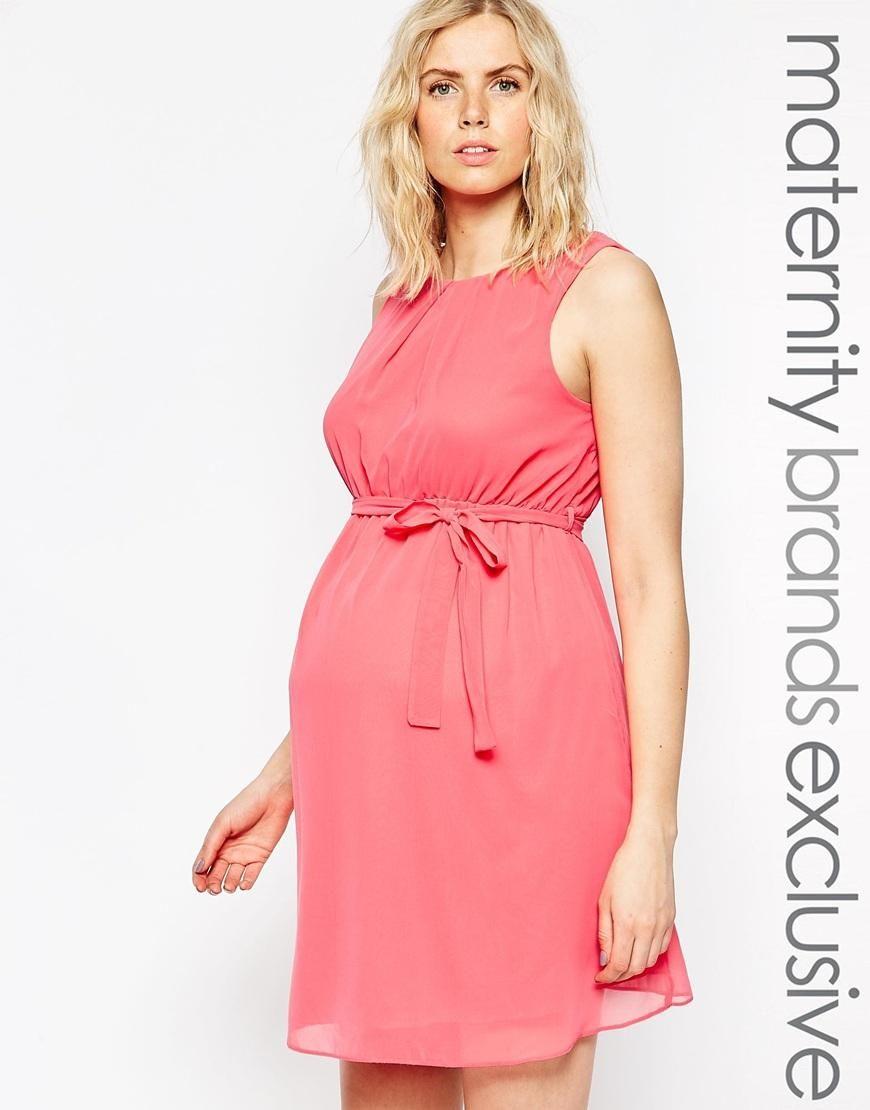 New Look Maternity | New Look Maternity Chiffon Dress at ASOS ...