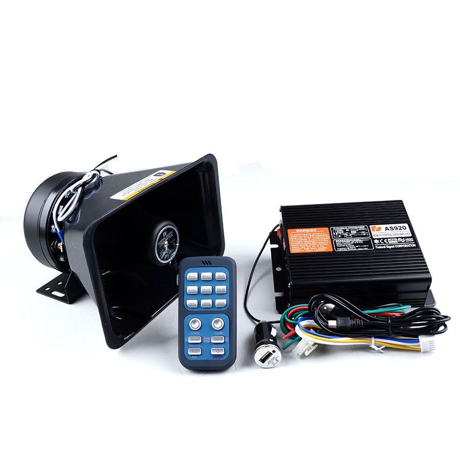 200W Police Siren AS920 Amplifier Car Alarm Siren with