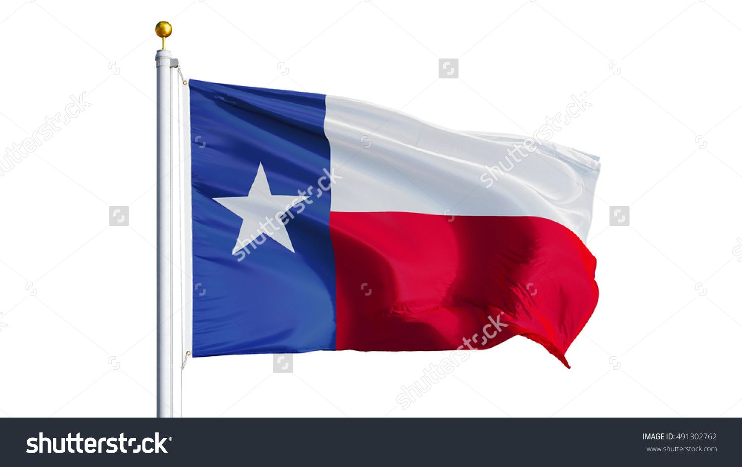 Texas Flag Waving On White Background Close Up Isolated With Clipping Path Mask Alpha Channel Transparency Texas Flags White Background Photo Editing