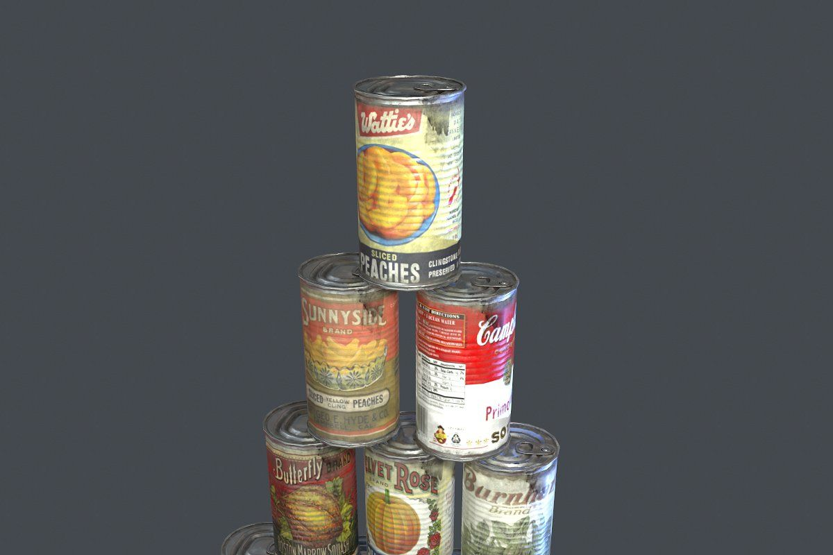 10 Old Tin Can With Food Tin Can Tin Canning