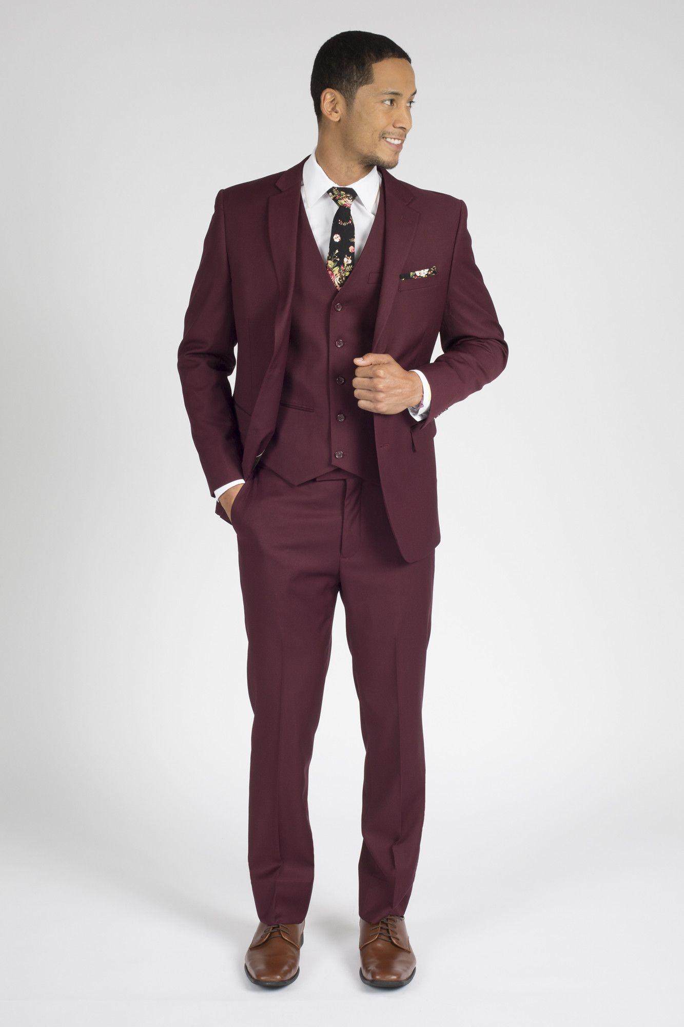 b3b06ddd719 Burgundy Modern Fit Suit. Burgundy Modern Fit Suit Burgundy Suit