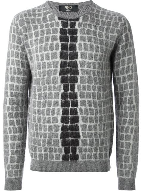 a5c69c3ed529 Shop Fendi tile print sweater in Stefania Mode from the world s best  independent boutiques at farfetch.com. Over 1000 designers from 300  boutiques in one ...