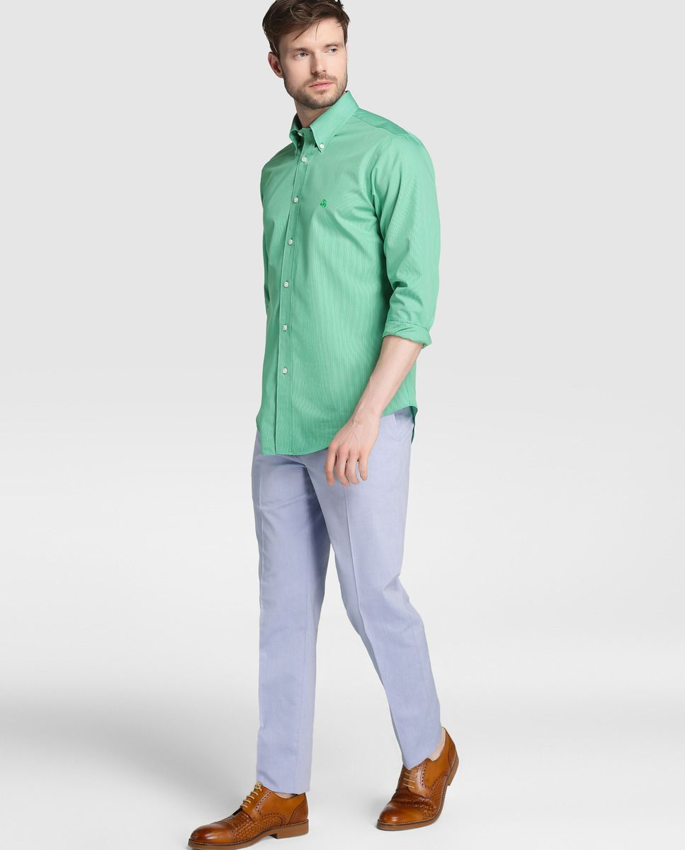 e4bf260ed3 Camisa Regent de hombre Brooks Brothers slim de rayas verde · Brooks  Brothers · Moda · El Corte Inglés