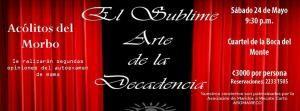 """Lanzamiento del """"Sublime Arte de la Decadenciahttp://www.desktopcostarica.com/eventos/2014/lanzamiento-del-sublime-arte-de-la-decadencia"""