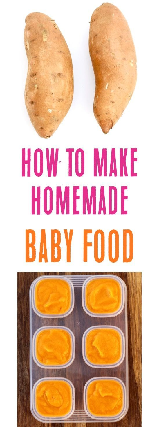 Homemade Baby Food Sweet Potato Recipe! {Easy First Food} - The Frugal Girls