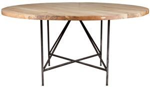 Jim Denney Round Dining Table Bleached Wood K I Wonder If - Bleached wood dining table