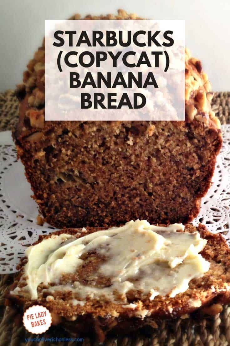Banana Bread Recipe (Starbucks Copycat) An all time favourite, you will love this copycat recipe for Starbucks Banana Bread! Sweet and crunchy, beautifully moist.