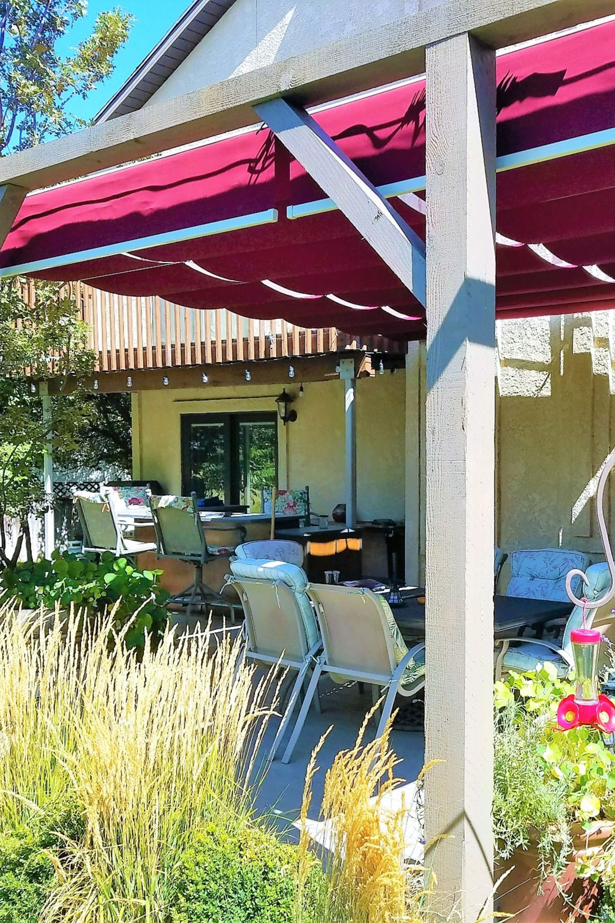 Our Retractable Canopies Are Made With Only Top Grade Sunbrella Waterproof Fabrics Stainless Steel Cables And Stainl Pergola Shade Cover Pergola Pergola Shade