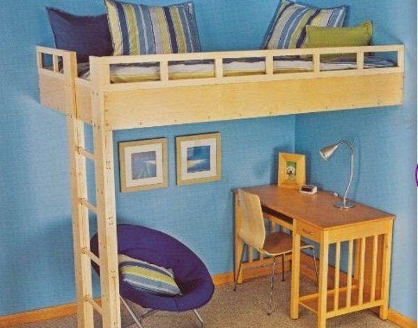 diy built in loft bed ideas | cool stuff | Pinterest | Lofts ...