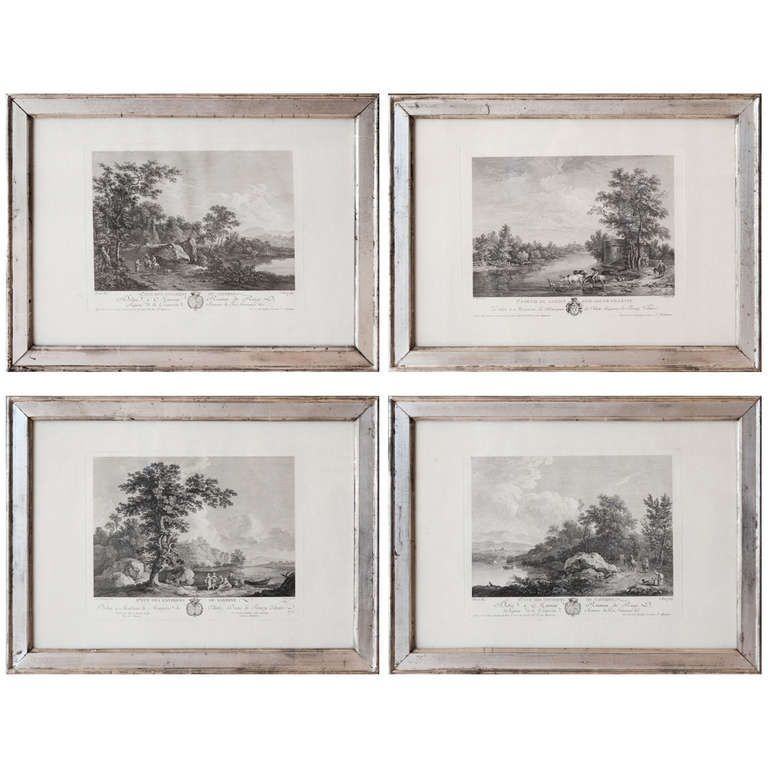 Set Of Four 18th Etchings In Silver Leaf Frames | Pinterest | Etchings