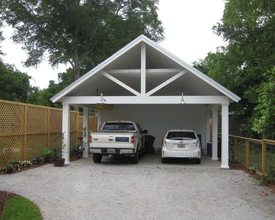 Garage and shed carport design pictures remodel decor for Carport garage plans