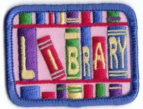 Girl-Boy-Cub-LIBRARY-PINK-tour-visit-Fun-Patches-Crests-Badges-SCOUTS-GUIDES