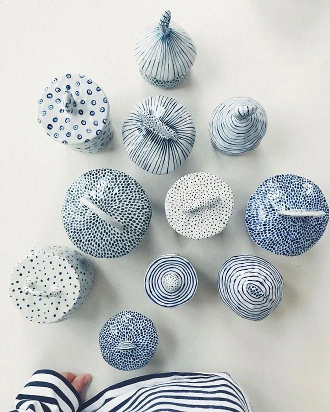 Blue Colored Ceramics by Chloe May Brown - ArtisticMoods.com