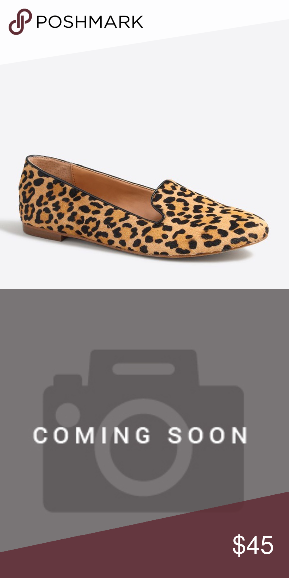 J. Crew Cora Leopard Calf Hair Loafers