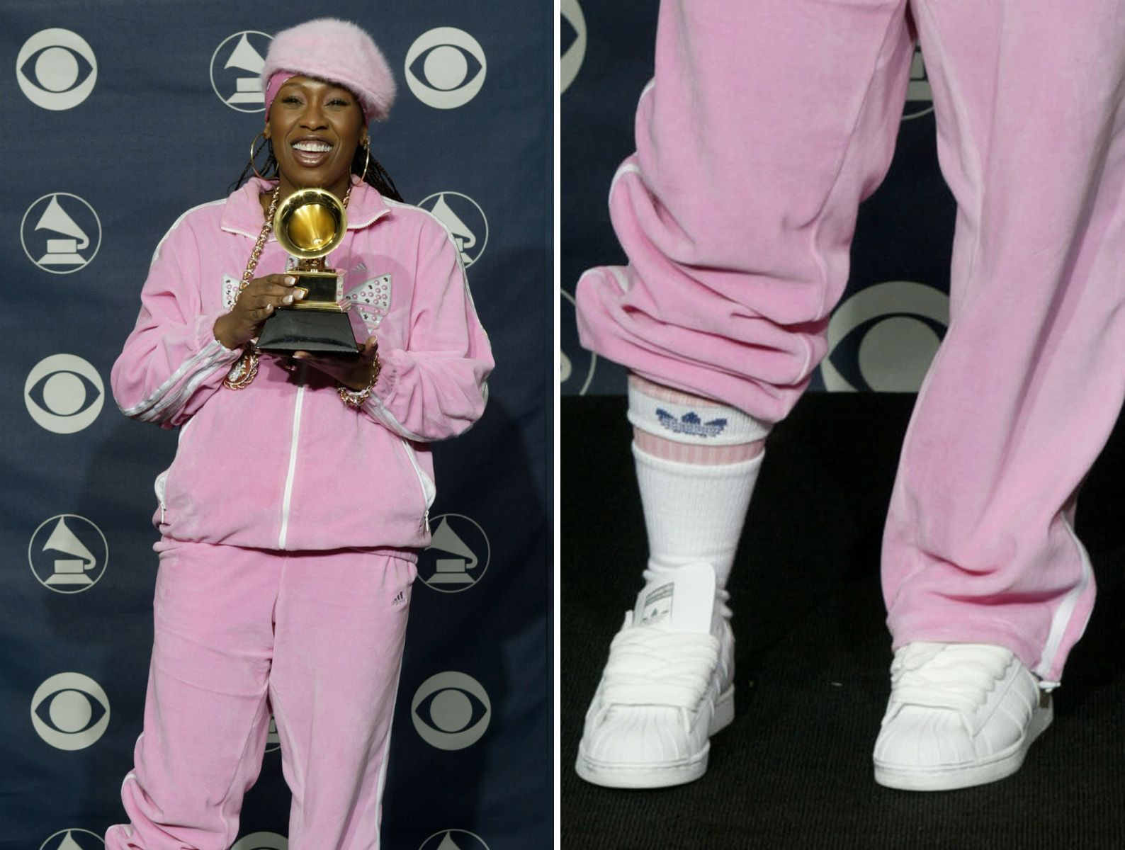 Fashion · WORST EVER GRAMMY FASHION DISASTERS §§ MISSY ELLIOTT The pink  Adidas tracksuit with white sneakers