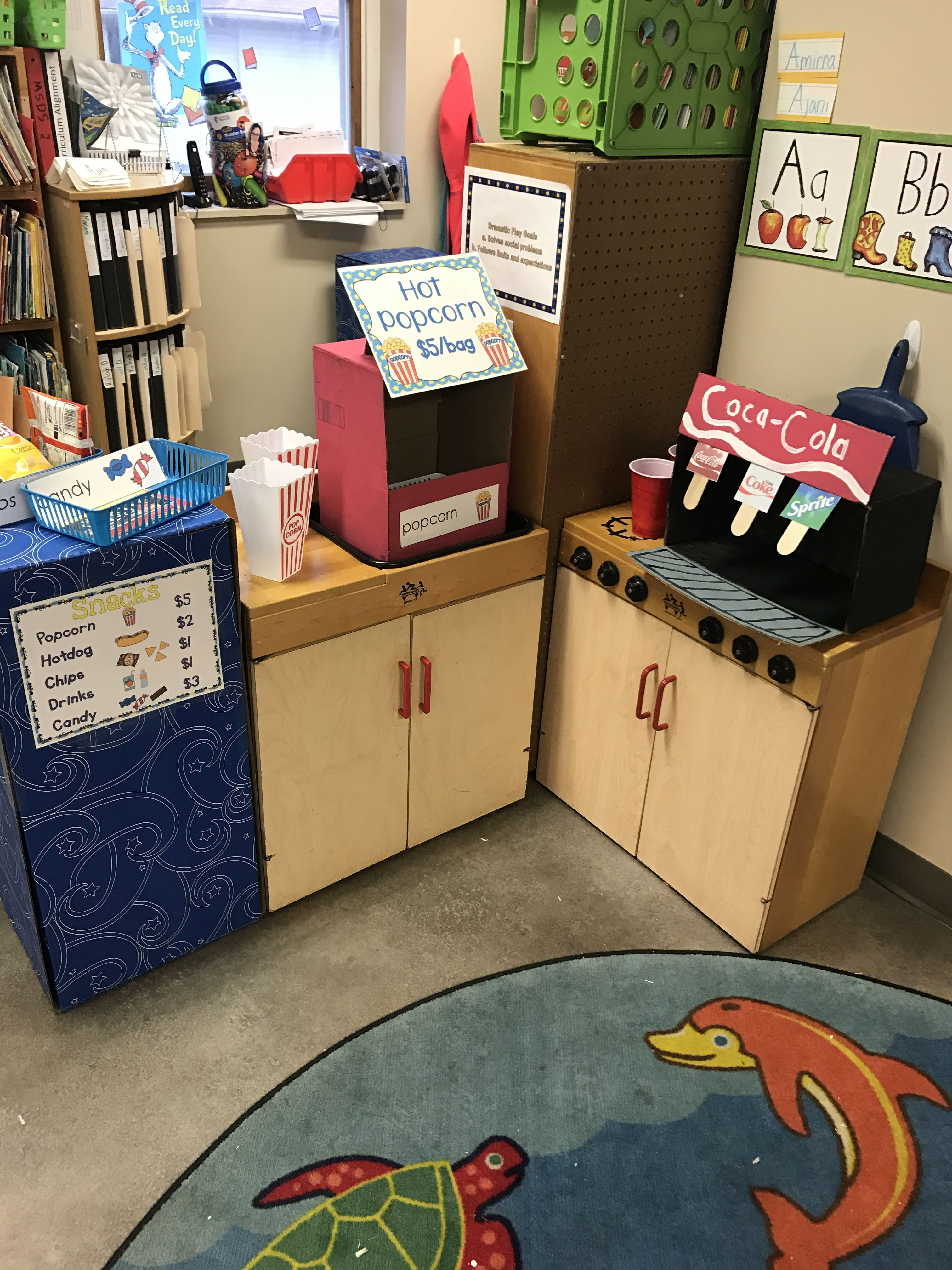 Dramatic Play Area Concession Stand