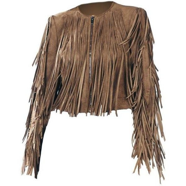 BCBGMAXAZRIA Bcbg Fringe Suede Brown Leather Jacket ($345) ❤ liked on Polyvore featuring outerwear, jackets, fringe jacket, brown jacket, fringed leather jackets, real leather jackets, brown suede jackets and zip front jacket