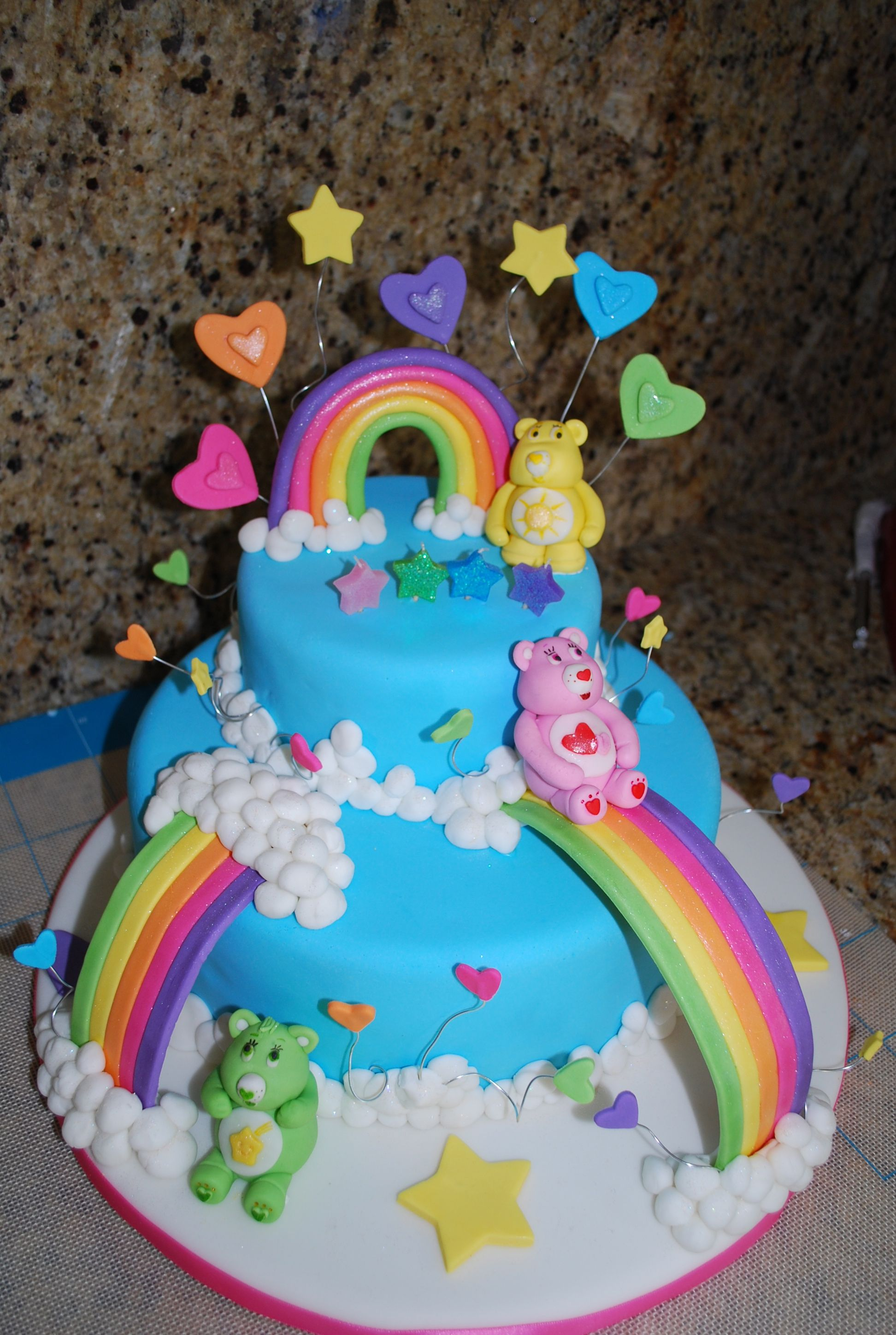 Care Bears Cake Care Bear Cakes Birthday Party Pinterest