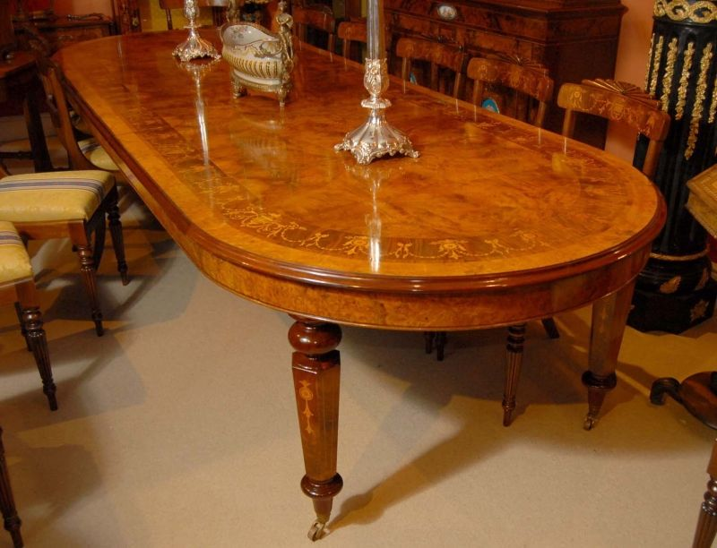 12 foot Italian Marquetry Extending Dining Table | Marquetry ...