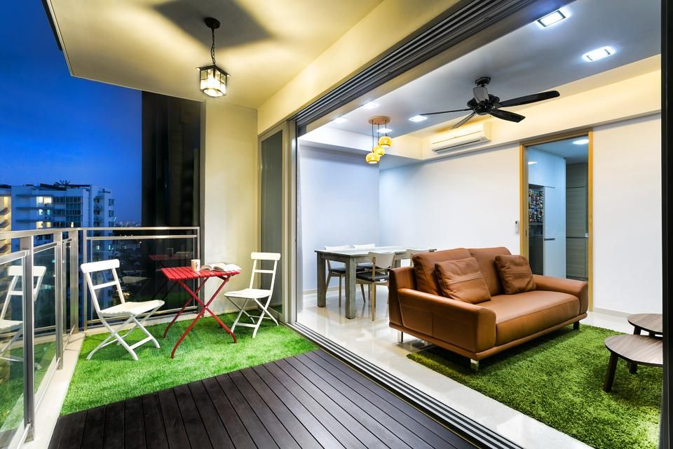 The Scala Singapore Condo Interior Design Balcony Cengai