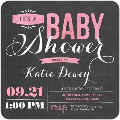 Pink And Black Baby Shower Invitations: Todayu0027s Staff Picks On The  Tinyprints Blog