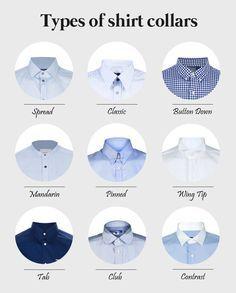 Types of shirt collars