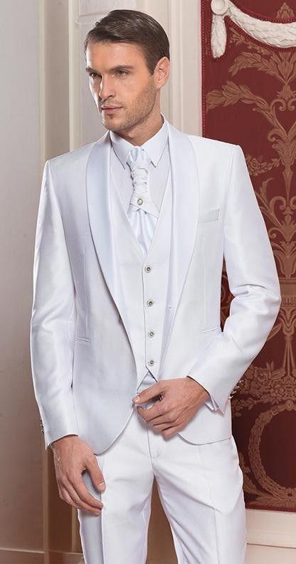 2017 Latest Coat Pant Designs Italian White Satin Men Suit Prom ...