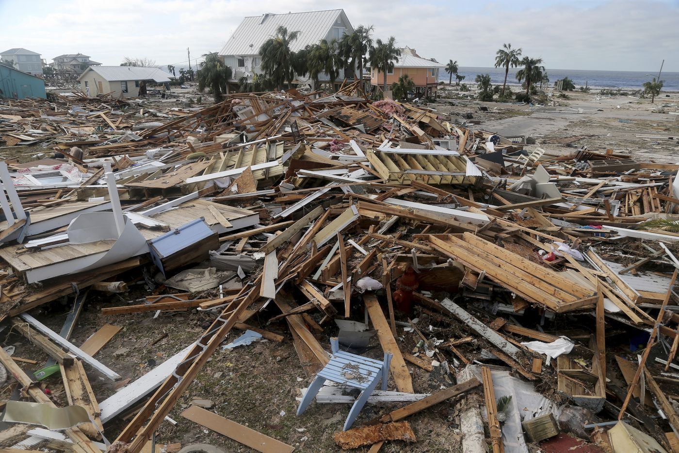 The Coastal Township Of Mexico Beach Fla Lays Devastated On Thursday Oct 11 2018 After Hurricane Mic Mexico Beach Florida Mexico Beach Florida