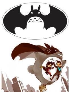 Totoro, check    Batman, check    Epic cuteness, CHECK!