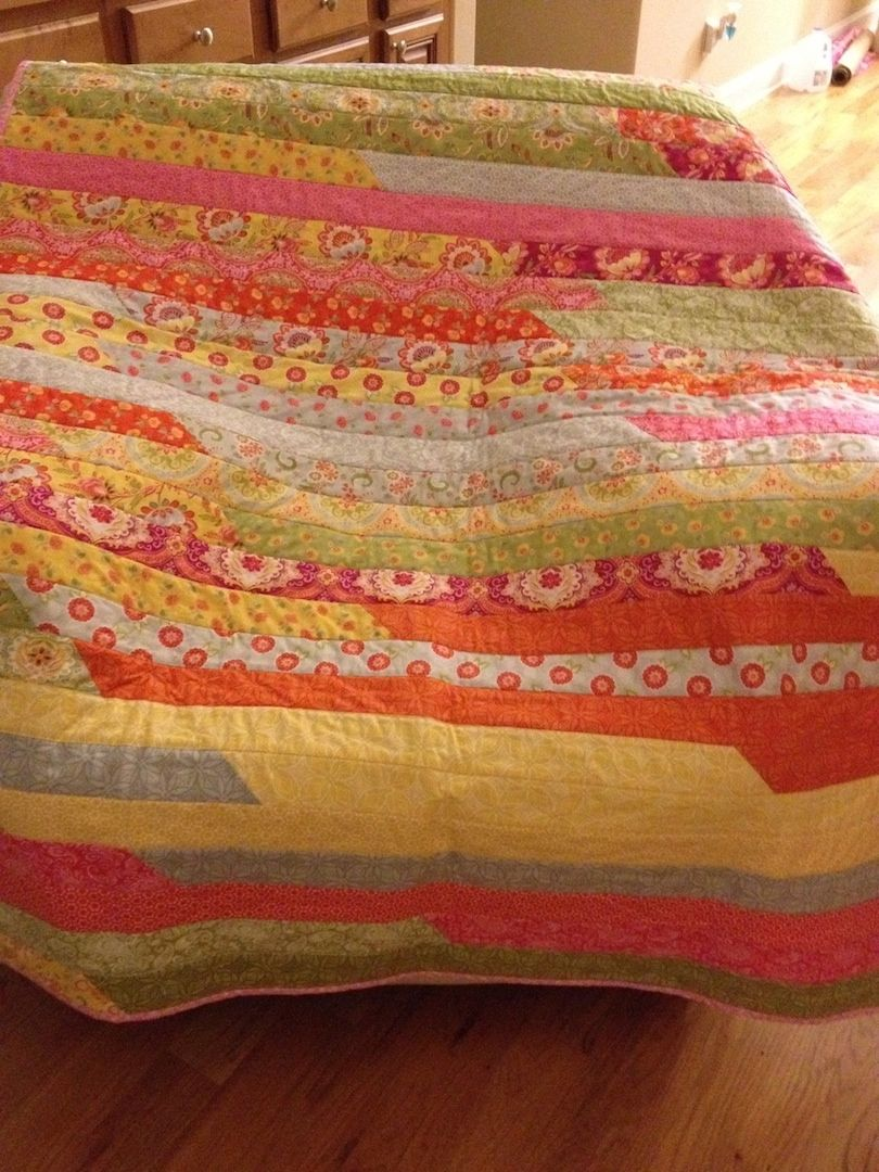 A quilt I made for a friend to use during her chemo treatments