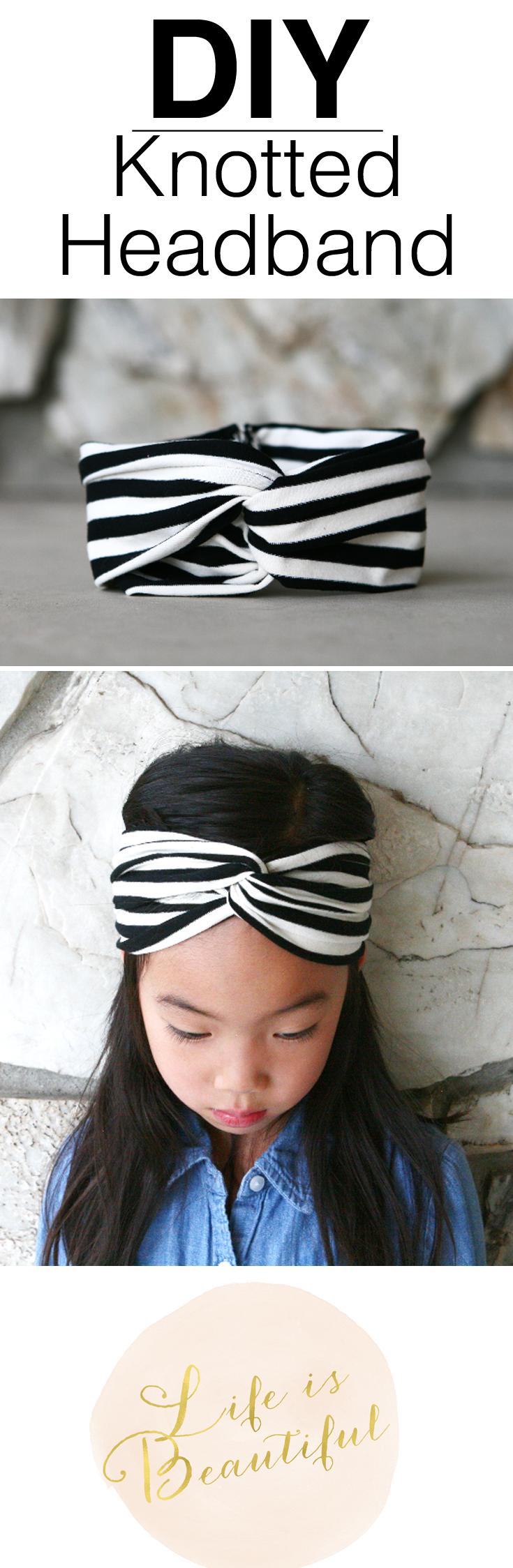 DIY Knotted headband Turban Stirnbänder 5f303a29b1f