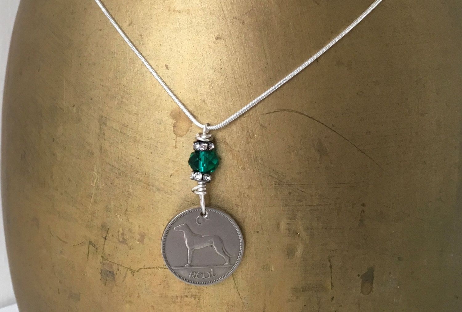 70th birthday gift for her, 1947 Irish sixpence necklace