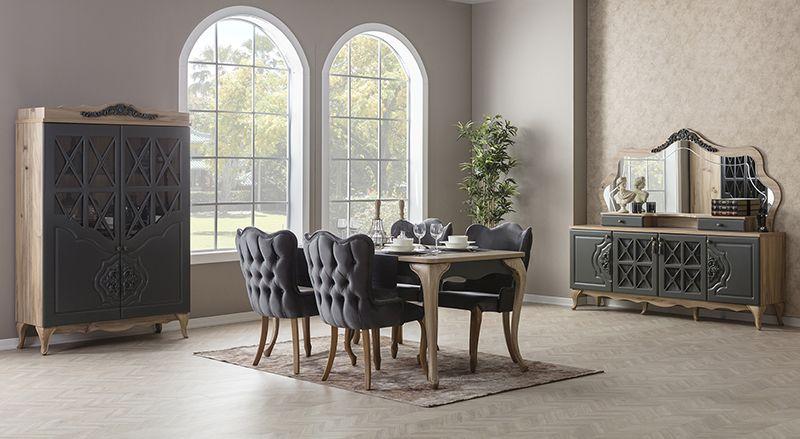 غرفه سفرة مودرن كلاسيك Furniture Grey Dining Room Grey Dining