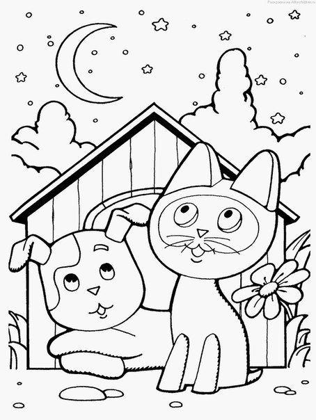 картинки по запросу раскраски сказки для малышей рисование