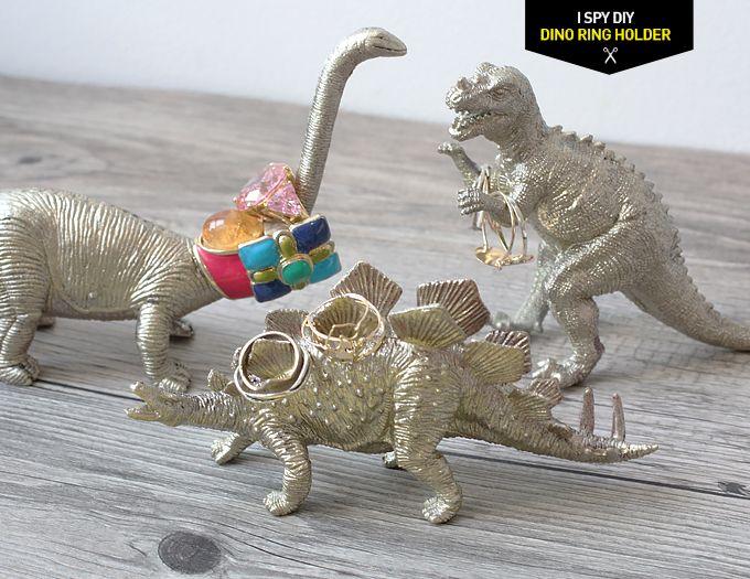 DIY - Dinosaurier Ringhalter