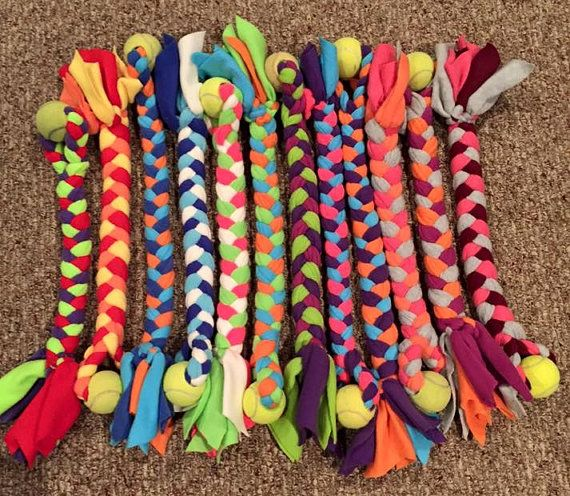 Tugglyfe Toys Are Hand Made Braided Fleece Tuggers By Tugglyfetoys