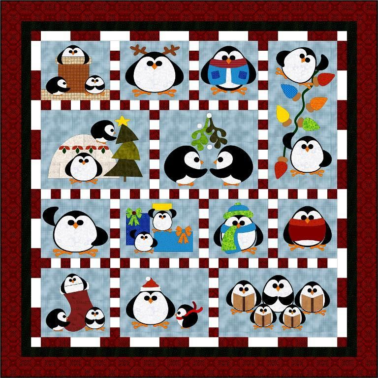 Penguin Cheer Free Bom From Sindy Rodenmayer Quilt