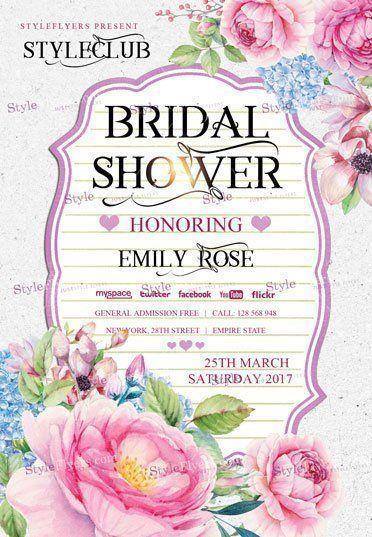 Bridal Shower Psd Flyer Template Psd Flyer Templates Bridal
