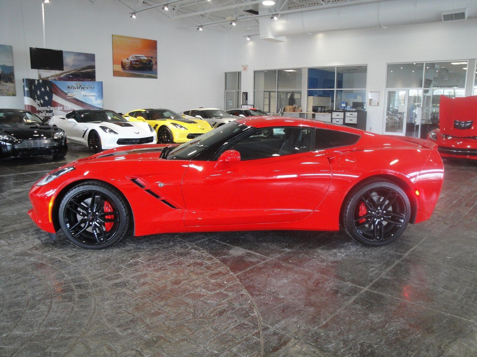 Cool Great 2017 Chevrolet Corvette 1lt New Torch Red Z51 Stingray Coupe Magnetic Ride 19 2018