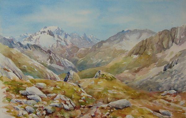 Jacques Daugeron Peintures Et Aquarelles De Montagne A Chambery Peinture Chambery Montagne