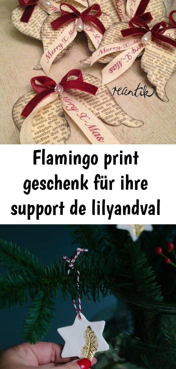 Flamingo print geschenk für ihre support de lilyandval