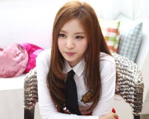 Apink Naeun Long Straight Layered Korean Hair Asian