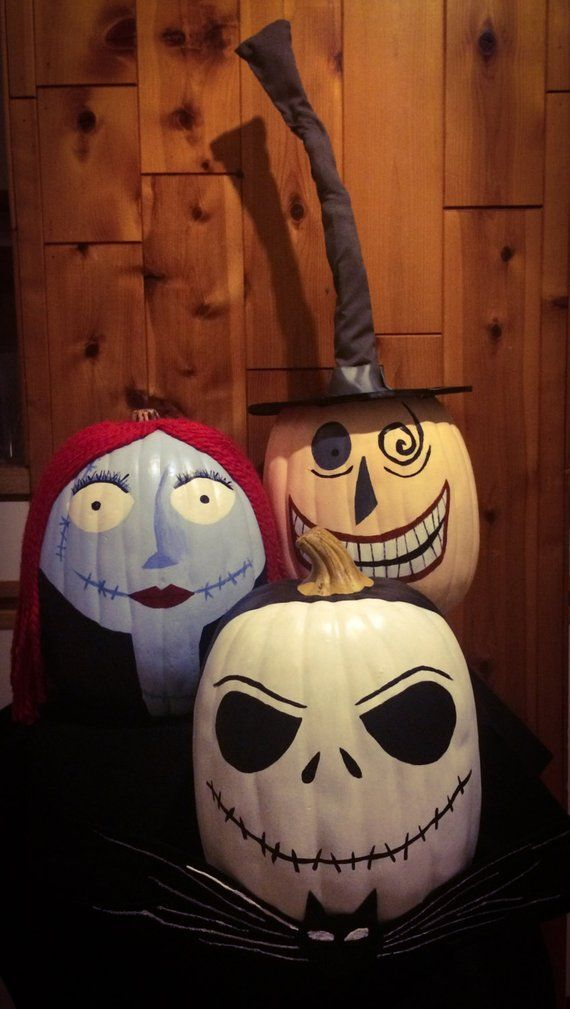 Nightmare Before Christmas Pumpkin Trio Halloween Pinterest
