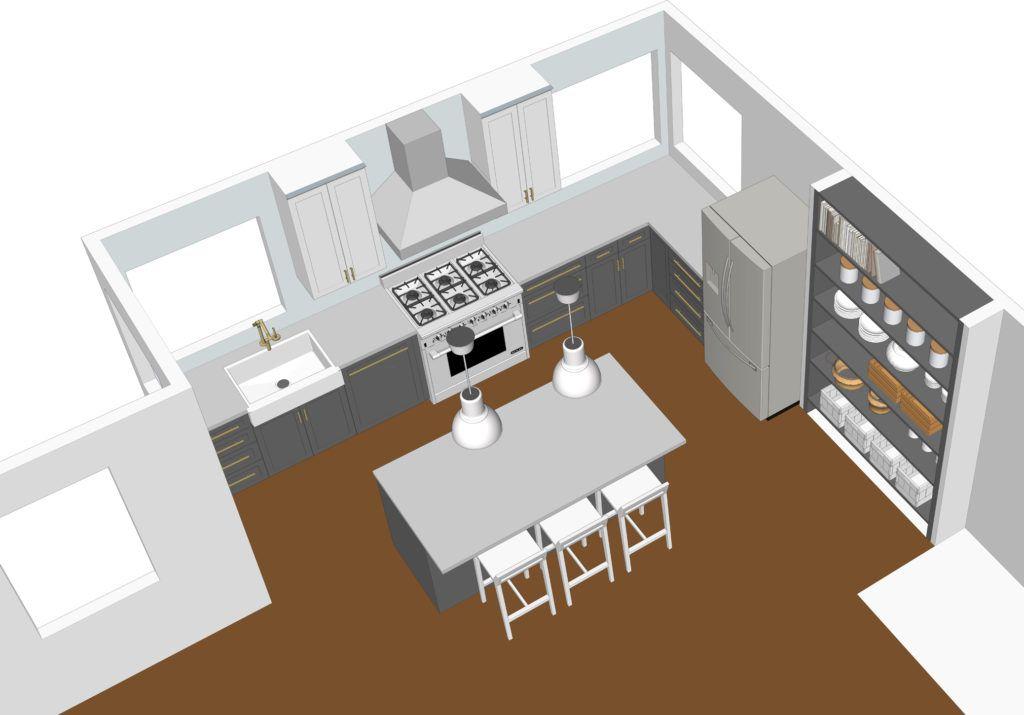 Using Google Sketchup To Design A Kitchen Bay On A Budget Kitchen Models Interior Design Kitchen Kitchen Design