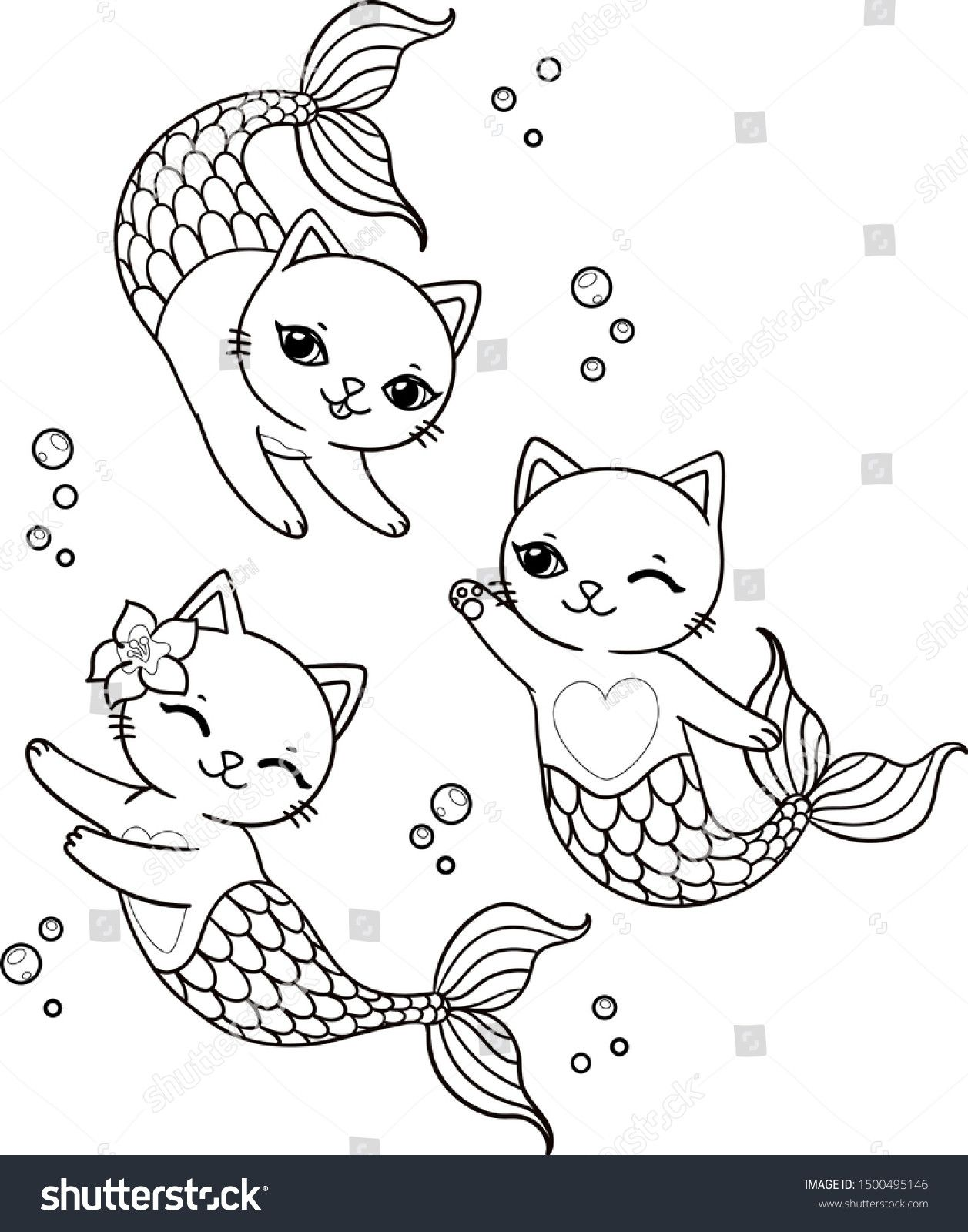 Mermaid Cat Coloring Page Youngandtae Com Mermaid Coloring Book Mermaid Coloring Pages Unicorn Coloring Pages