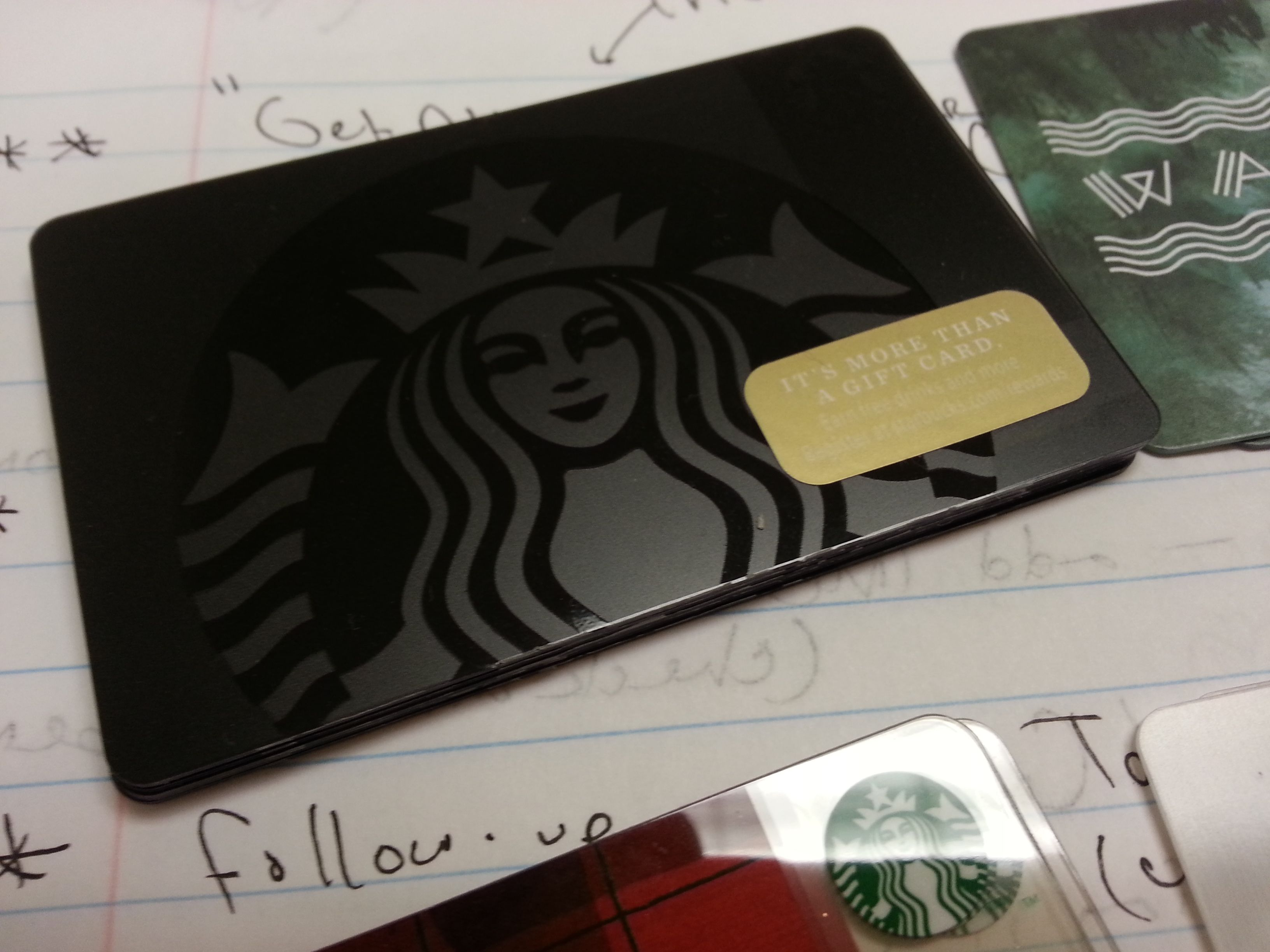 The new all black starbucks coffee card part of the new for Starbucks business cards
