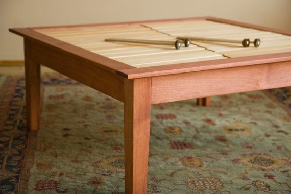 musical coffee table with xylophones  wooden coffee table