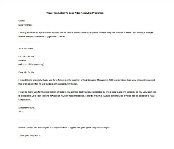 thank you letter templates free word pdf documents sample long