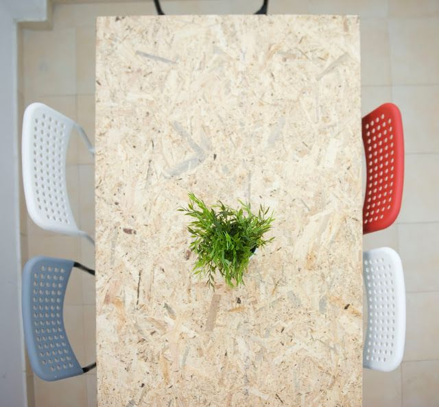 OSB diy table ADDE IKEA chairs OSB stuffs Pinterest Ikea chairs - g nstige k chen ikea